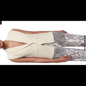 Foundrae Cotton Fringe-Trim Vest, Cream SZ 4